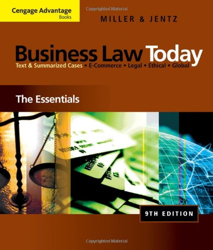 business law today essentials Get this from a library business law today : the essentials [roger leroy miller.